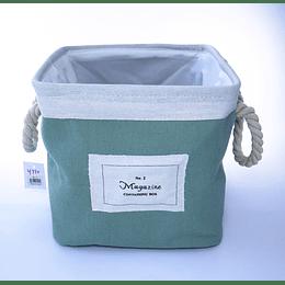 Organizador Tela Forrado Verde