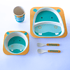 Set de comida bebés 5 piezas hipopótamo
