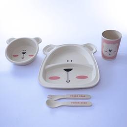 Set de comida bebés 5 piezas osito