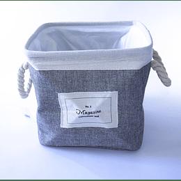 Organizador Tela Forrado gris