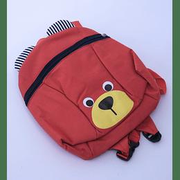 Mochila oso rojo con correa