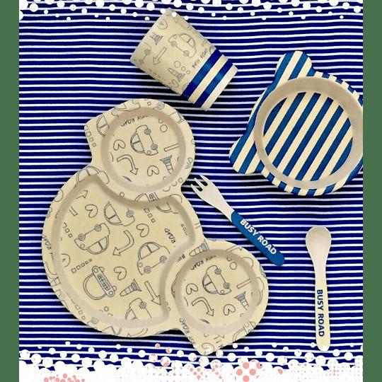 Set de comida bebés 5 piezas