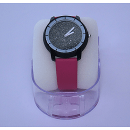Reloj rosado  mujer brillos