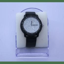 Reloj mujer pulsera silicona negro