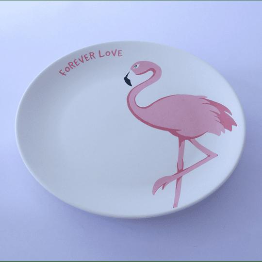Plato cerámica flamenco  21 cm