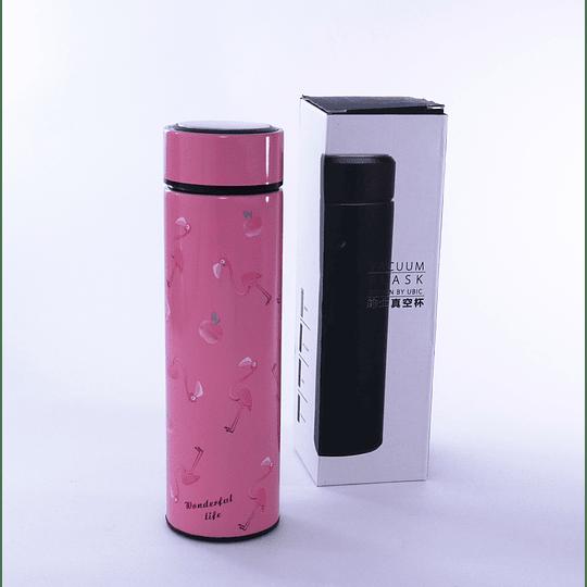Termo rosado  con filtro flamingo