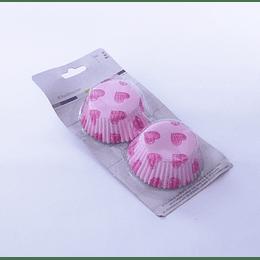 Set 60 capsulas para cupcake corazón