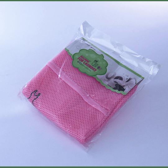 Bolsa Malla de Lavado 30x40 Rosada