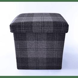 Pouf baúl Escocés gris