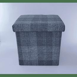 Pouf baúl Escocés Azul Piedra