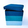Pouf baúl Franjas Azul