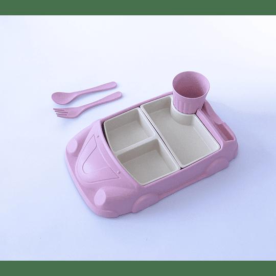 Plato auto rosado
