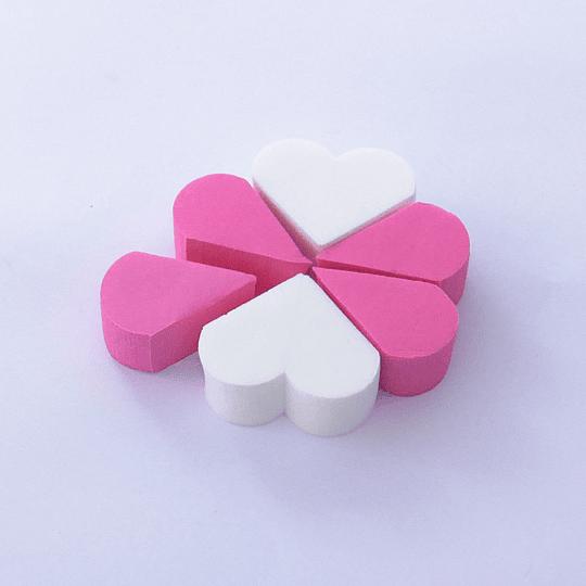 Esponja de Maquillaje Corazones