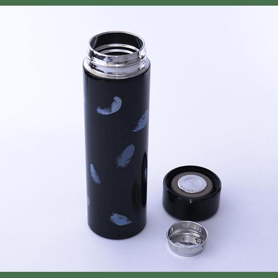 Termo con Filtro para Té 500ml Plumas Celestes