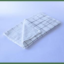 Paño Cocina -Toalla Qingchen 35x75 Blanco cuadriculado