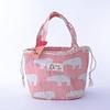 Bolsa Térmica Algodón cordón rosada - cebra