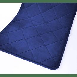 Alfombra Baño Acolchado Antideslizante Azul