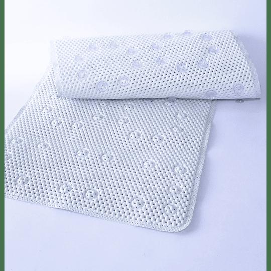 Alfombra con Ventosas para Baño 43x90 blanco