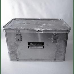 Caja Metálica Aluminio Usada Cierre Hermético 39x59x34