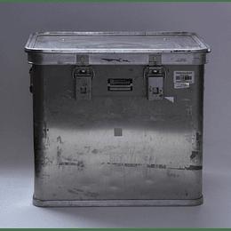 Caja Metálica Aluminio Usada Cierre Hermético 37,5x46x40