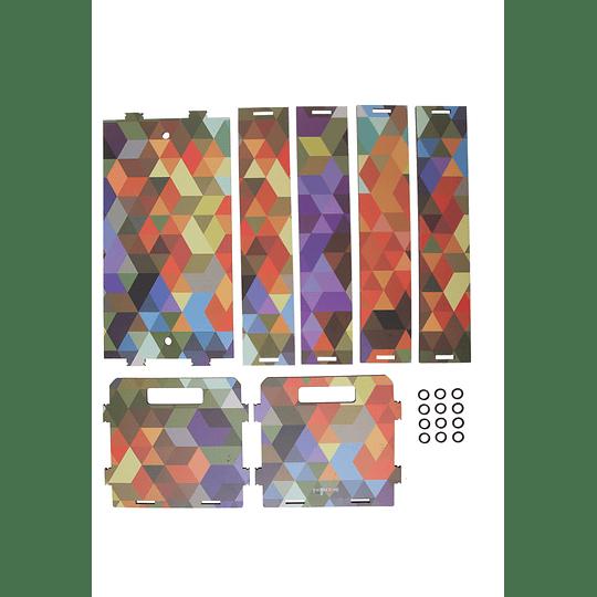 Caja Chica arlequin Armable 20cm x 11cm x 12cm