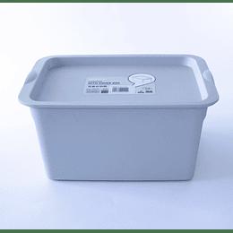 Caja con Tapa Organizadora 5L gris