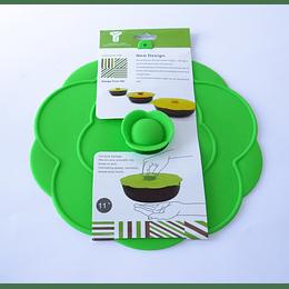"Tapa Silicona 28cm - 11 ""verde"