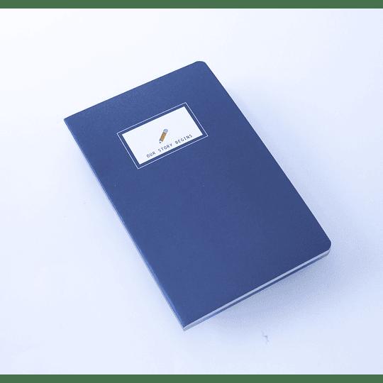 Cuaderno 20,5x13,5 Our Story  etiqueta blanca