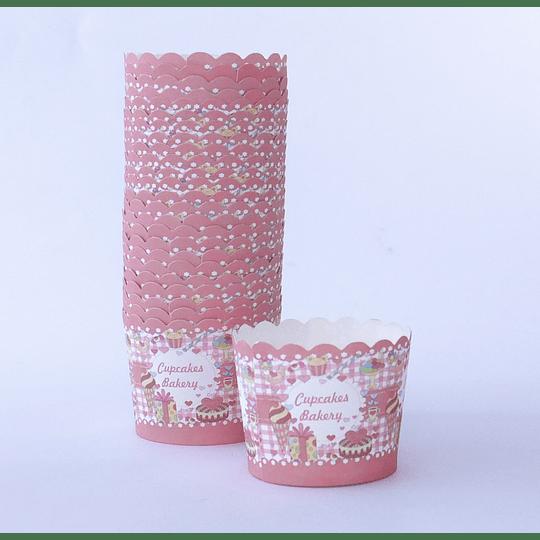 Capsulas Cupcake Diseño Bakery - 25u
