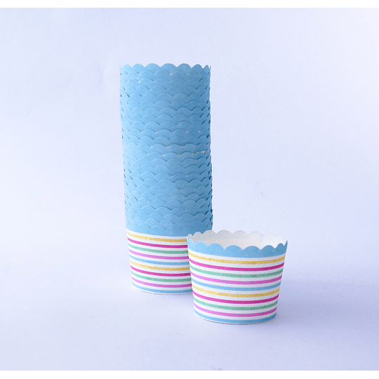 Capsulas Cupcake Diseño Lineas - 25u
