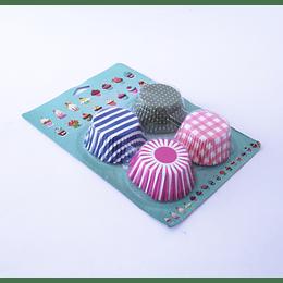 Capsulas Cupcake 4diseños 60u