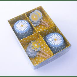 Cupcake Kit Diseño Margarita