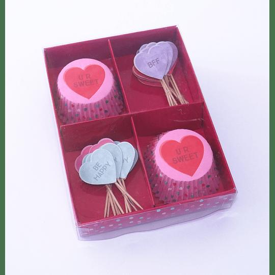 Cupcake Kit Diseño Corazón