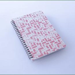 Libreta 80 hojas Espiral 14,5x21 Dis.Naranjo