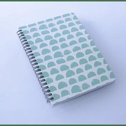 Libreta 80 hojas Espiral 14,5x21 Dis.Verde