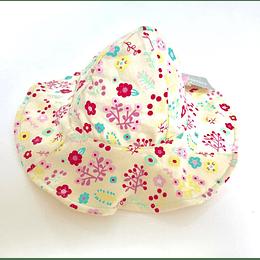 gorro Bebé Diseño flores/amarill casaideas