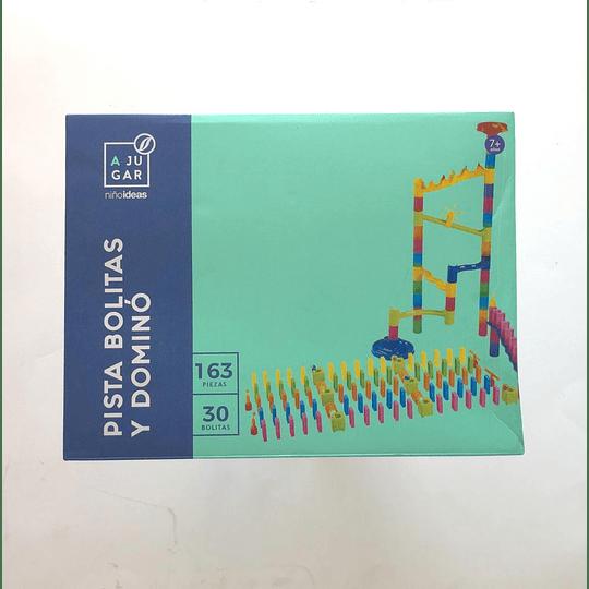 pista bolitas y domino  163 piezas casaideas
