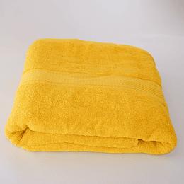 Toalla Sabana de Baño amarilla 90 x 180 cm casaideas