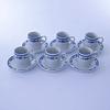 Set 6 Tazas de Café 12pcs - azul