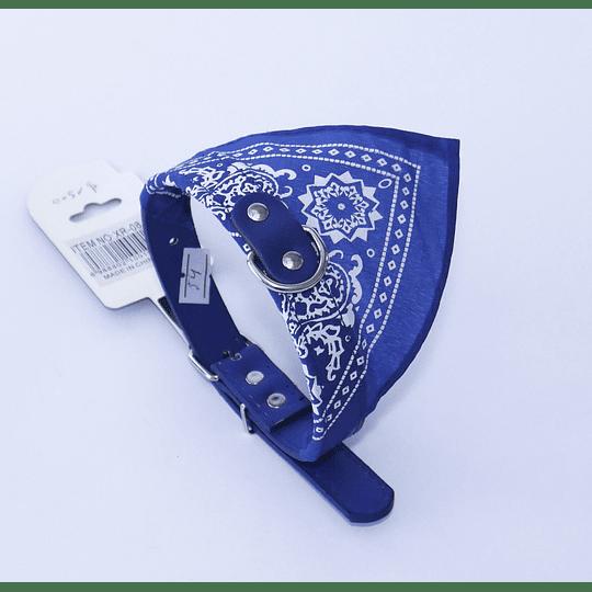 Collar Mascota Bandana Azul