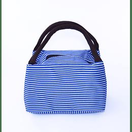 Bolsa Térmica Colación - Lunch - azul lineas