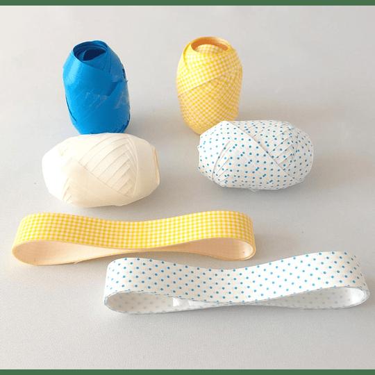 Cintas para envolver regalos azul amarillo casaideas
