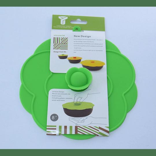 Tapa Silicona 20cm verde