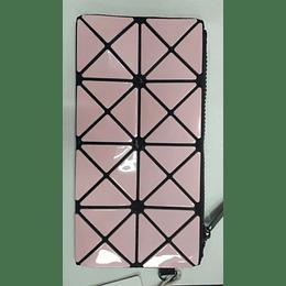 Cosmetiquero geométrico miniso rosado