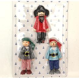 Set 3 muñecos piratas Casaideas