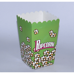 Set 6 Cajas Popcorn 8x8x15 verde