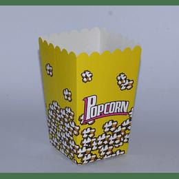 Set 6 Cajas Popcorn 8x8x15 amarillo