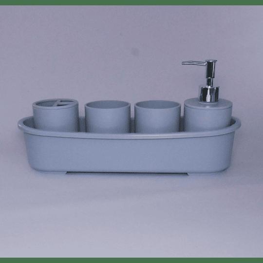 Kit de Baño 5 piezas Gris