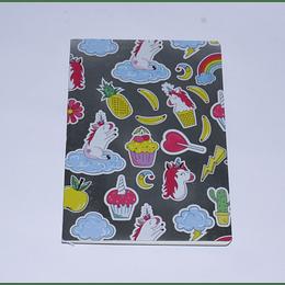 Cuaderno 18x25 Plata-Cupcake