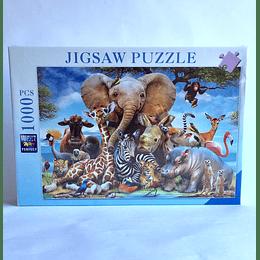 Puzzle 1000 pcs 50x75 Selfie Animales de la Jungla